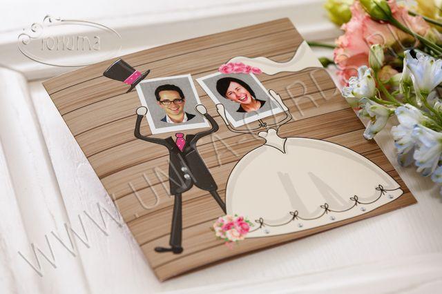 Приглашение с фото на свадьбу
